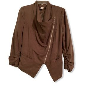 C. Luce Nordstrom Asymmetrical zip-up blazer